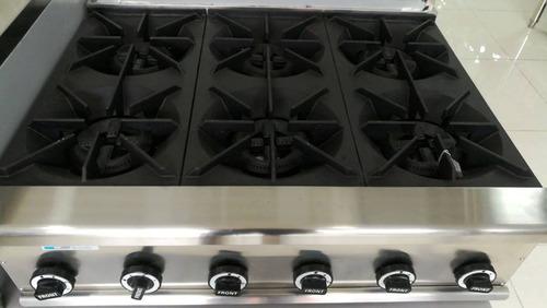 quemador a gas, grande, potente, en hierro, cocina, catering
