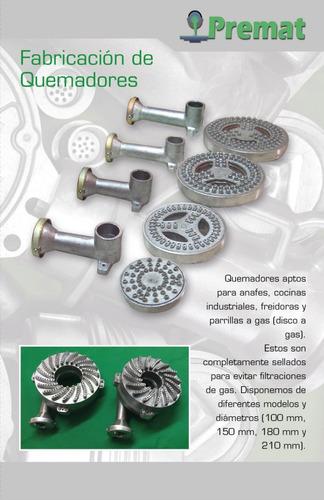 quemador aluminio 100 mm (sin mezclador)