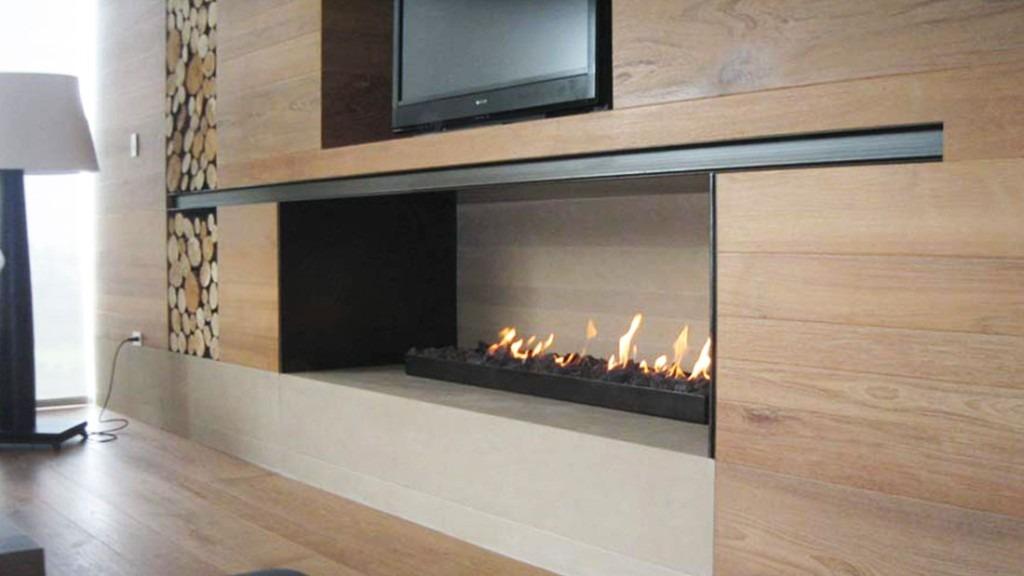 Quemador chimenea gas interior exterior contemporanea 92cm 6 en mercado libre - Chimenea de gas natural ...