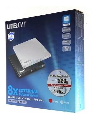 quemador de dvd usb 2.0 portátil externo ultra-slim liteon