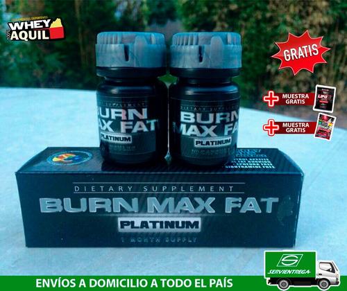 quemador de grasa adelgazant burn max fat + gratis