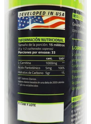 quemador de grasa l carnitina liquida 500 ml star nutrition