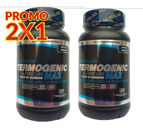 quemador de grasa termogenic max nutrilab 2x1 termogenico