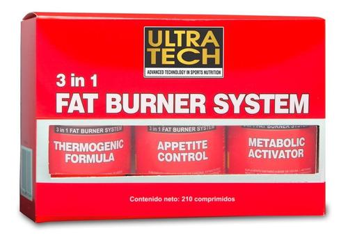 quemador de grasas 3 en 1  ultra tech 3 formulas termogénico control de apetito energía