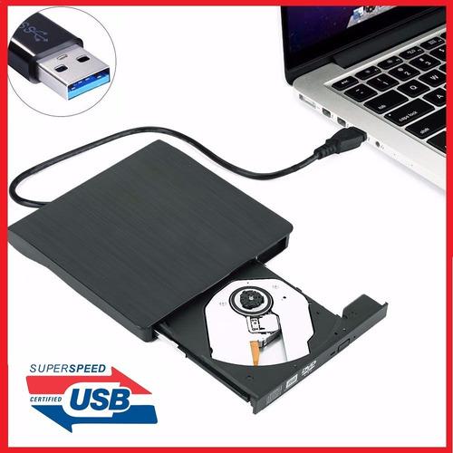 quemador dvd cd externo usb 3.0 compatible windows / mac os