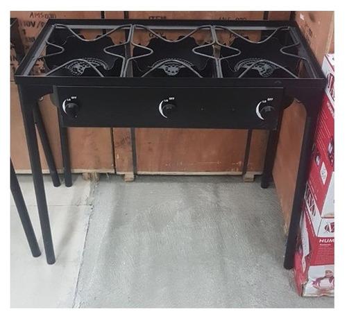quemador gas, potente, 2 llaves, en hierro, cocina, casa.