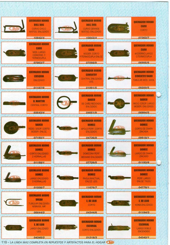 quemador horno domec corto enloz. 2 hornall. art. 01158/1