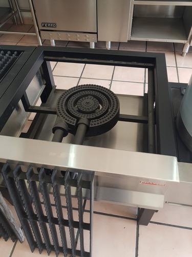 quemador industrial a gas triple vulcan para estufones 31 cm diámetro hierro fundido arol