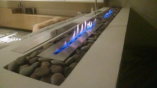 quemador para chimenea etanol 1 metro garantia de por vida