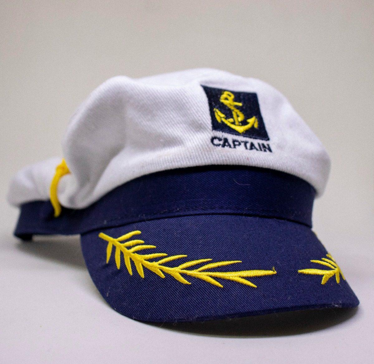 quepe chapeu capitão marinheiro luxo veludo azul fantasia. Carregando zoom. cef807d9551