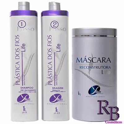 queratina alisa o cabelo, alisante e hidratação 3x1