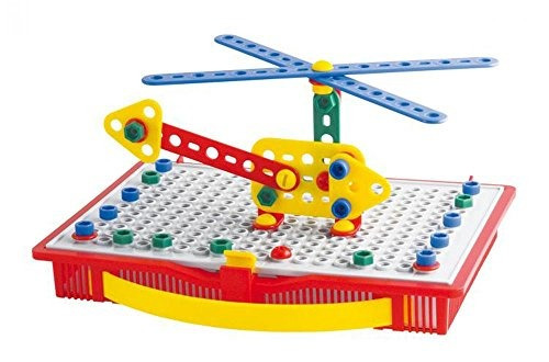 quercetti tecno - 80 juego de piezas de construcción - cons