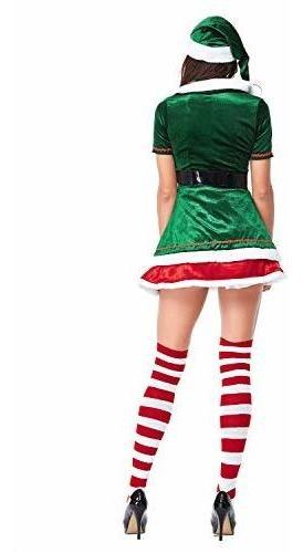 Quesera Womens Santa Helper Costume Adult Christmas Honey Elf Halloween Outfits