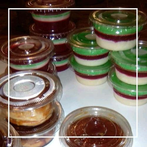 quesillos, gelatinas 6 sabores, tortas, suspiro puerto ordaz