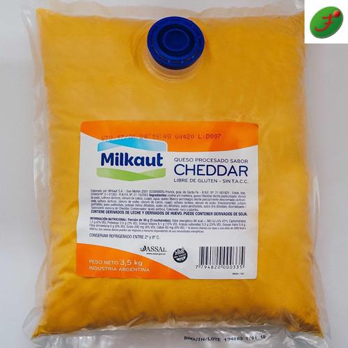 queso cheedar liquido milkaut ideal para nachos,aptoceliacos