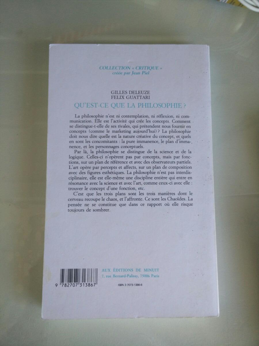 Qu Est Ce Que La Philosophie De Gilles Deleuze 920 00 En