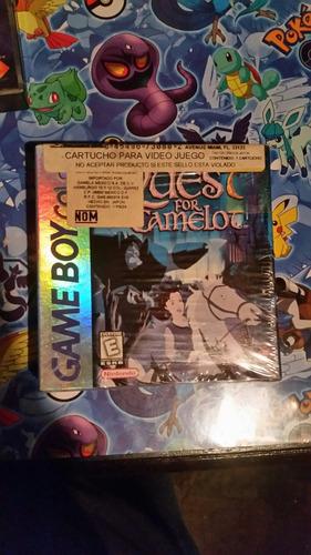 quest for camelot game boy color gbc nuevo sellado