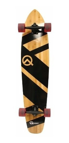 quest super cruiser artisan bamboo longboard skateboard