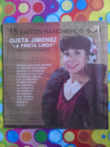 queta jimenez lp  la prieta linda  15 éxitos rancheros 1986