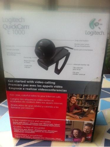 quickcam logitech e 1000 - nueva