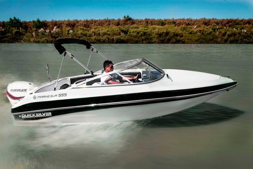 quicksilver marinesur 555 c/ evinrude e-tec 115 hp 0km 2018