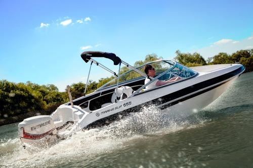 quicksilver marinesur 555 c/ evinrude e-tec 135 h.o 0km 2017