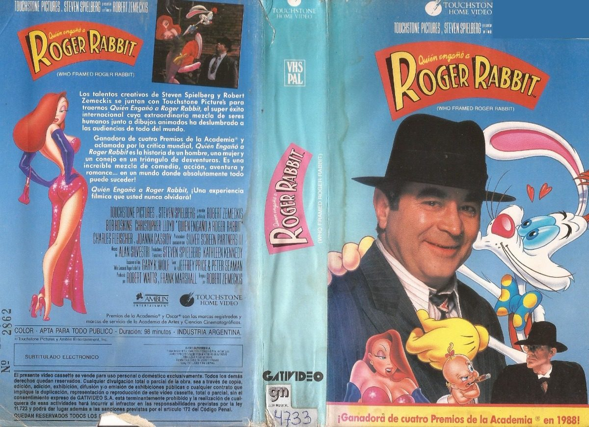Quien Engaño A Roger Rabbit Vhs Robert Zemeckis - $ 70,00 en Mercado ...