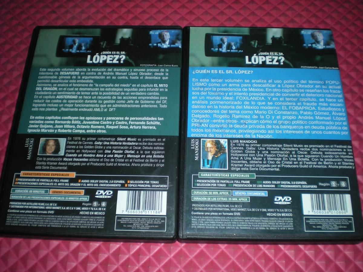 Quién Es El Señor López? Luis Mandoki Vol 2 Y Vol. 3 Nvos - $ 599.00 ...