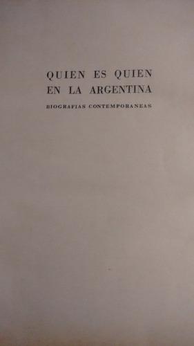 quien es quien en la argentina. biografías contemporáneas.