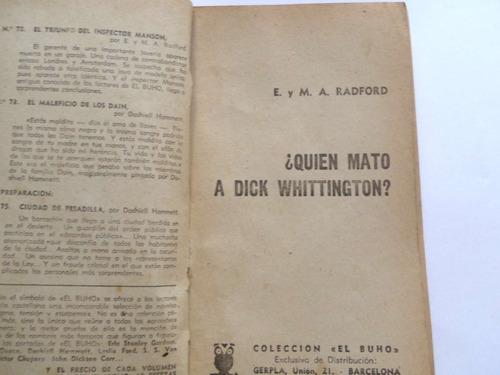 quien mato a dick whittington radford  novela policial buho