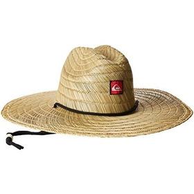 Quiksilver Para Hombre Pierside Paja Sombrero Para El Sol
