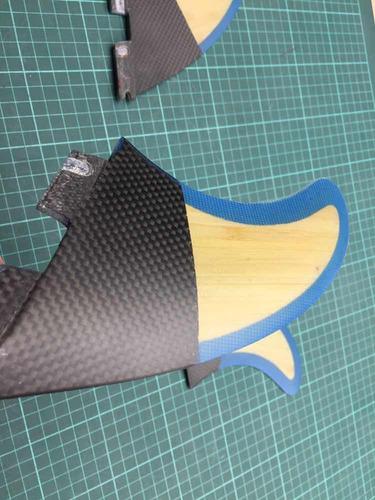 quillas fcs2  fcs  ii  surf carbono y bambú