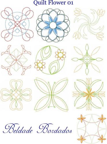 quilt flower 01 - coleção de matriz de bordado