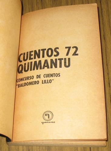 quimantu 1972  baldomero lillo - 10 cuentos autores chilenos