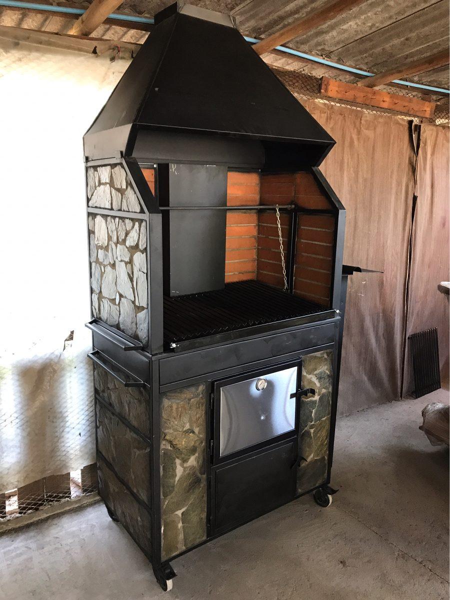 Quincho con horno enlosado a le a revestimiento piedra laja en mercado libre - Parrillas y hornos a lena ...