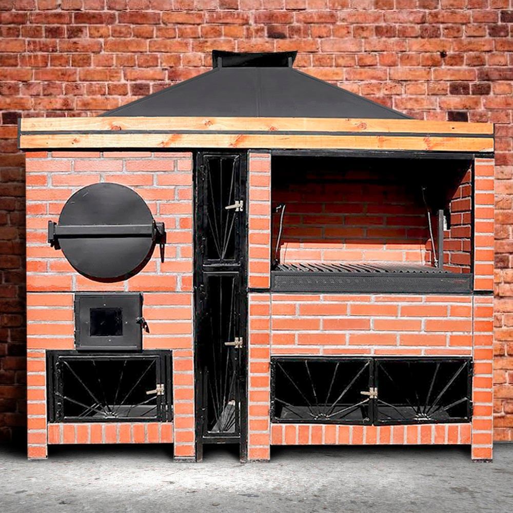 quincho parrilla y horno premiun vulcano grill rebajas. Black Bedroom Furniture Sets. Home Design Ideas