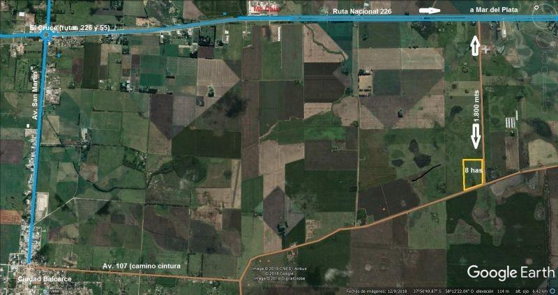 quinta de 8 has. a 1.800 mts ruta 226