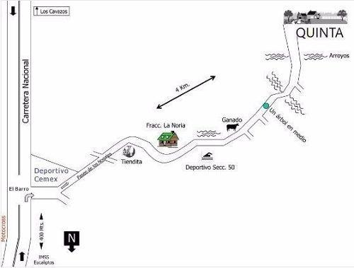 quinta en venta - el barro - carretera nacional zona sur de monterrey