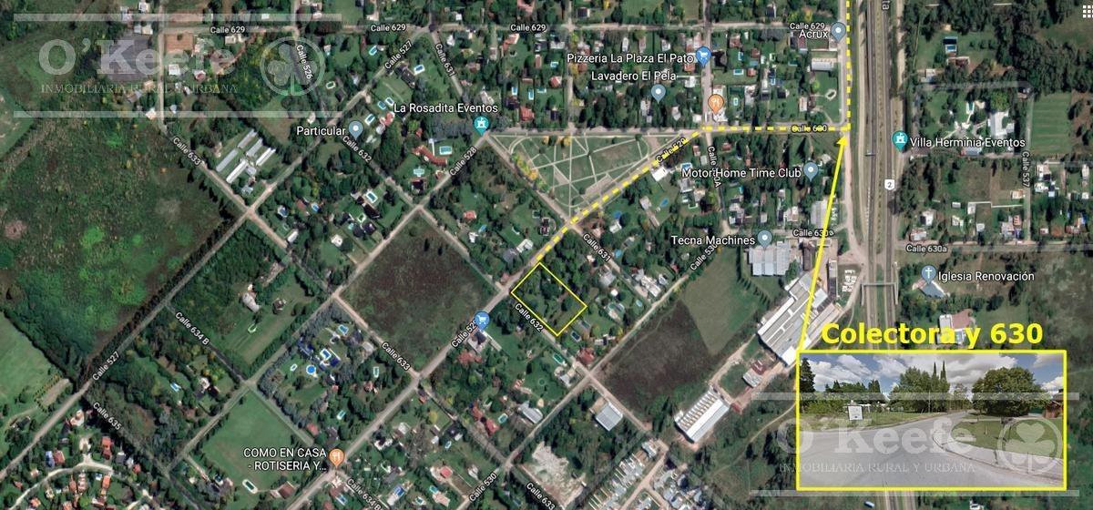 quinta sobre asfalto en estupenda ubicación a 200 mts de ruta 2