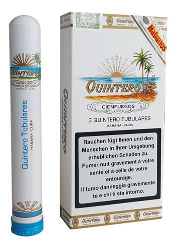 quintero tubulares habanos cubanos caja x3 tubos puros fumar
