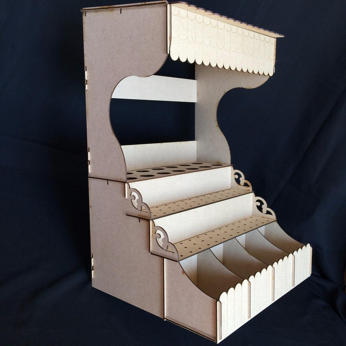 Quiosco para mesa de dulces y paletas base mdf gmbs025 for Imagenes de kioscos de madera