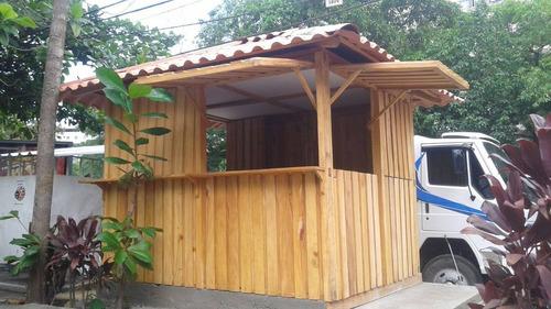 quiosque de madeira maciça (vinhatico)