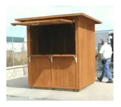 quiosque desmontável de madeira tratada - 12 x r$ 380,00