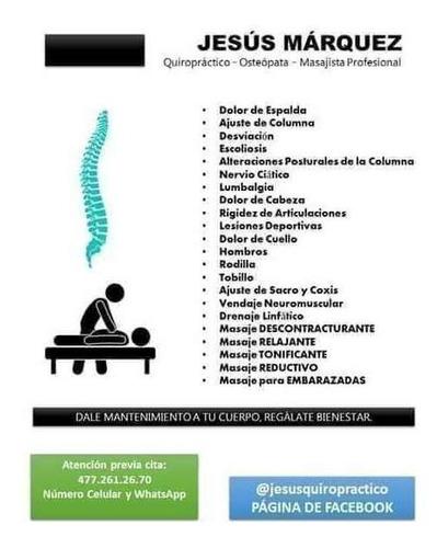 quiropráctico - osteópata - masajista profesional