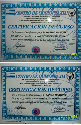 quiropráctico (quiropraxia china). masaj terap. electroacup.