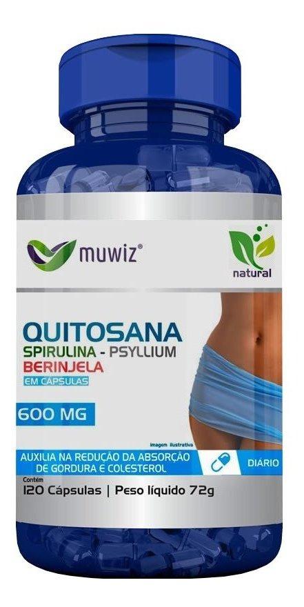 Quitosana Spirulina Psyllium Berinjela 120 Cápsulas