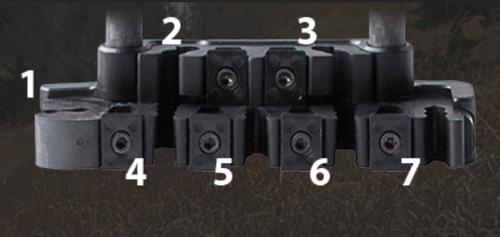 quiver carcaj de cacería (porta flechas) para arcos derechos marca tightspot para 7 flechas