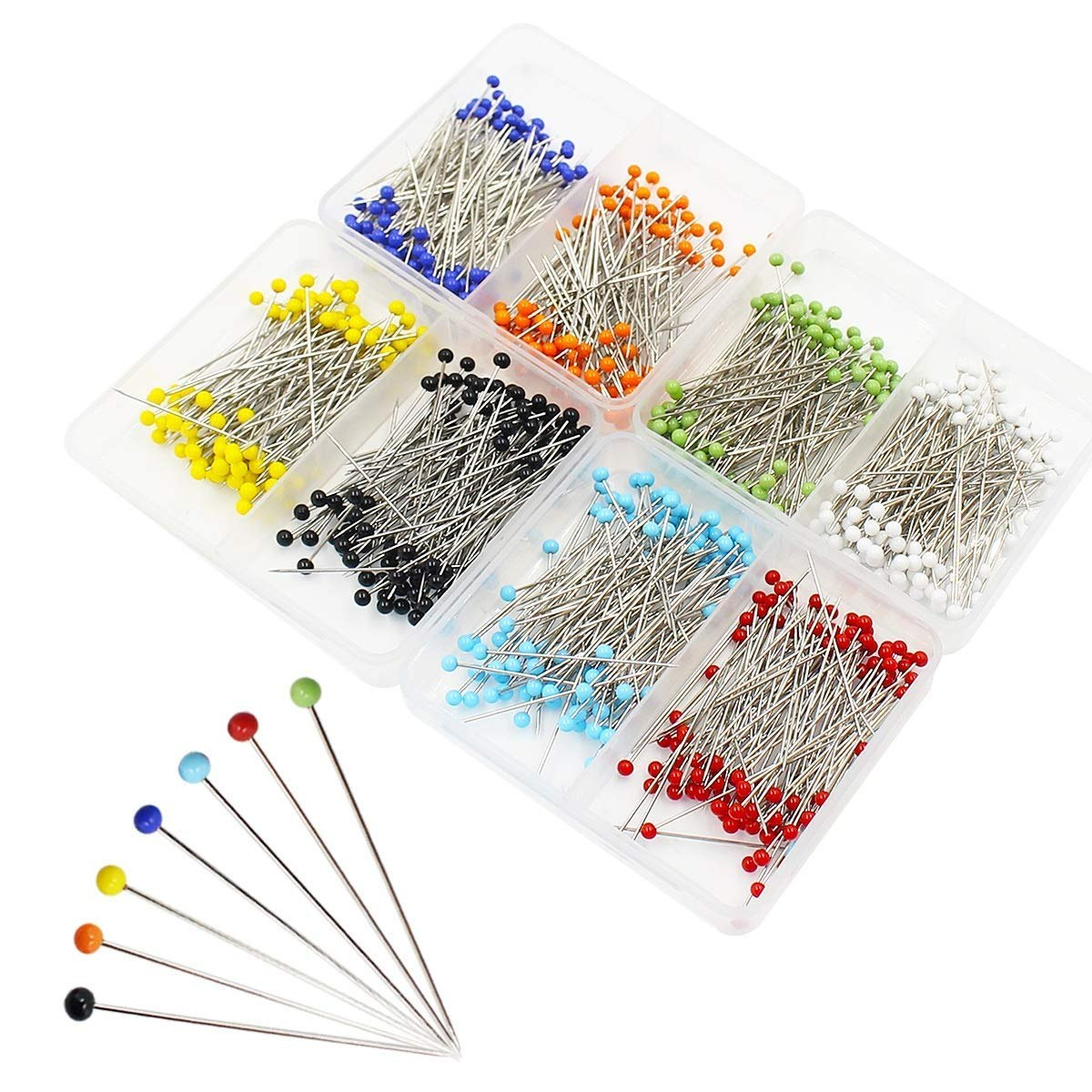 Pin Cushion and Glass Head Quilting Pins