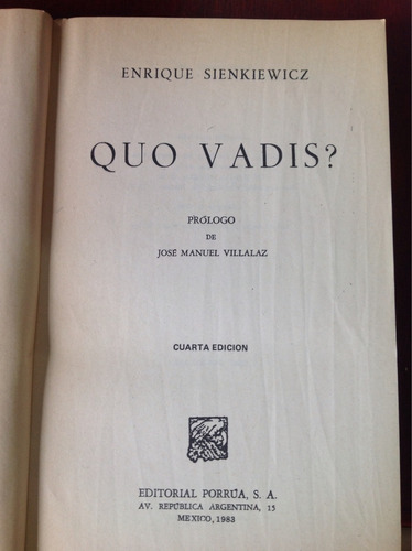 quo vadis? por enrique sienkiewicz