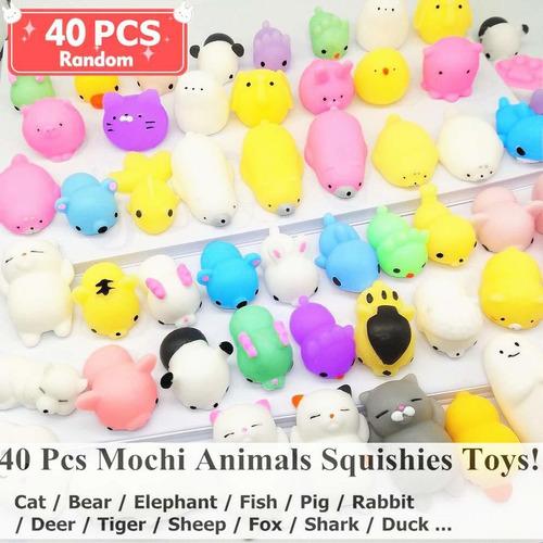qvatox 40 paquete mochi animales squishies kawaii mochi anim